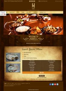 web development company in India-Haveli Indian Cuisine